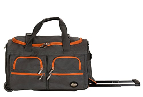 Rockland Luggage 22 Inch Rolling Duffle Bag, Charcoal, One Size ()