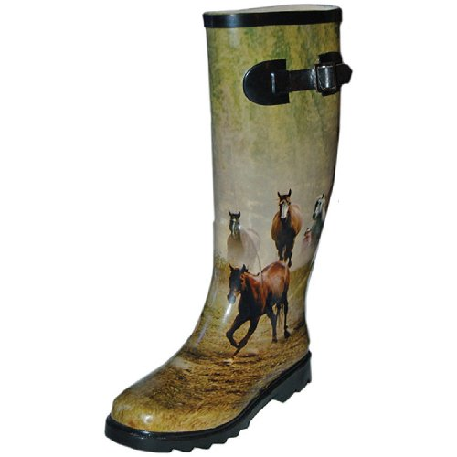 Itasca MISTY PONY 3D HORSE WATERPROOF RUBBER BOOT WOMENS ...