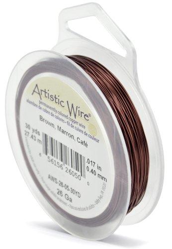 Artistic Wire 26 Gauge Brown 30 Yards