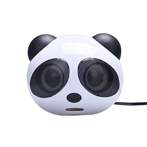 Price comparison product image Jonerytime Panda USB Subwoofer Speaker Music Player for Computer Desktop PC Black