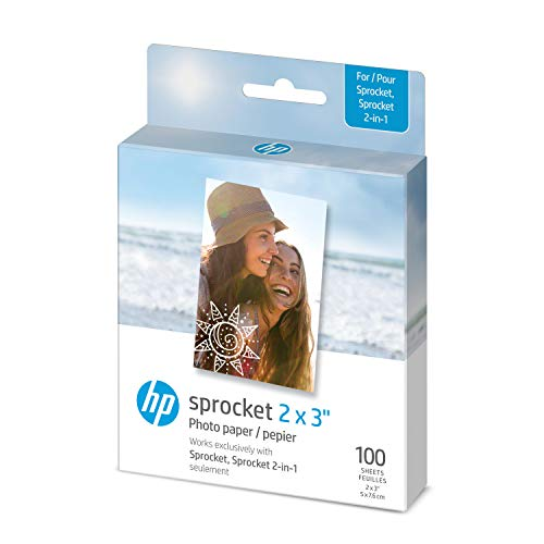 HP Sprocket 2×3″ Premium Zink Sticky Back Photo Paper (100 Sheets) Compatible with HP Sprocket Photo Printers.