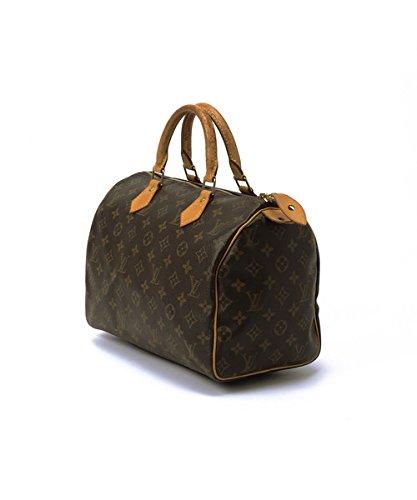 Authentic Women's Vintage Louis Vuitton Speedy 30 Brown Monogram Travel Bag