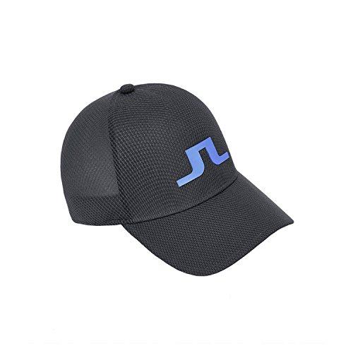 (J.Lindeberg Golf Caps (Banji Flexi Twill Cap, Angus Tech Stretch Cap) (L, Ace Mesh Seamless, DK Grey))