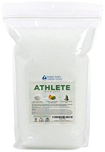 Athlete Bath Salt 128oz (8-Lbs) - Epsom Salt Bath With Pine & Eucalyptus Essential Oil Plus Vitamin C - Post Workout Soak For Tired Sore Muscles - All Natural Bath Soak