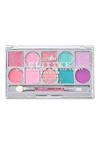 (Justice For Girls Just Shine Glitter Eye Shadow & Lip Gloss Palette)