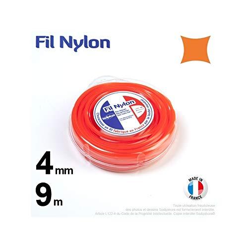 Ryobi-Desbrozadora inalámbrico nailon cuadrado 4 mm, 9 m, carcasa ...