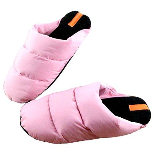 Beste Tijd Vrouwen Winter Indoor Slaapkamer Vloer Huis Slippers Roze