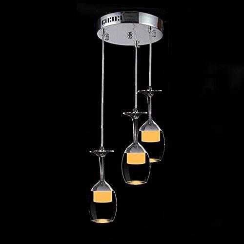LightInTheBox 25cm Round 9W LED Bar Wineglass Chandelier Dining Room Pendant Lamp Modern Simple Ceiling Light Fixture Color=Warm White