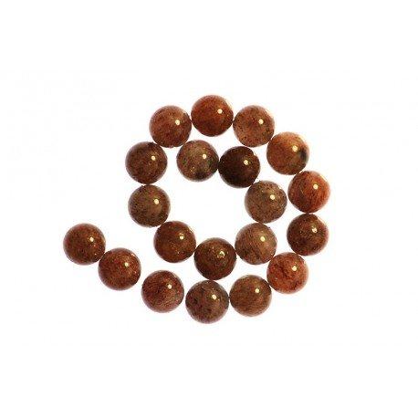 1 x Perle Quartz Sable Brun 12mm