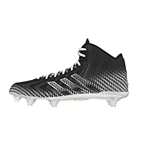 adidas Crazyquick Mid Football Cleats (Black/White - Size 9)