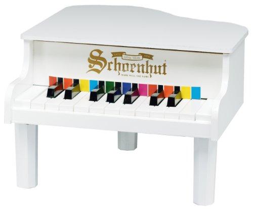 Schoenhut 18-Key Mini Baby Grand – White