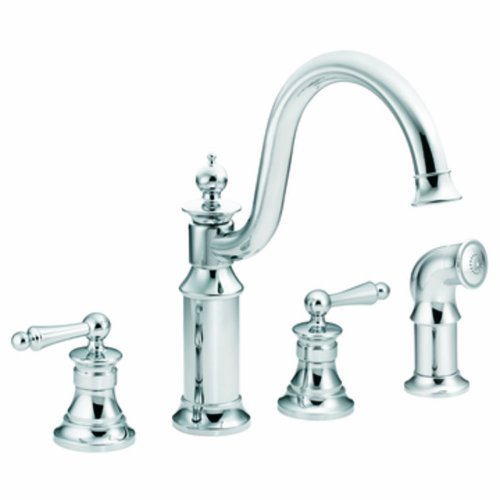 (Moen S712 Waterhill Two-Handle High Arc Kitchen Faucet, Chrome)