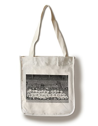 NY Yankees Team, Babe Ruth in Center, Baseball Photo (100% Cotton Tote Bag - - Pictures Yankee Ny