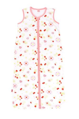 Jollein 049 – 510 – 64913 Saco de dormir Verano, 70 cm, jersey Cherry