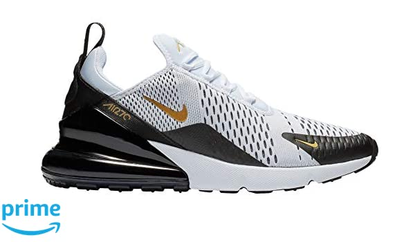 Nike Men's Air Max 270 WhiteBlackGold AV7892 100 (Size: 9.5)