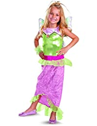 Girl's Winx Club Flora Mermaid Classic Costume, 10-12