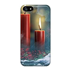 Premium Red Candles Holidays Heavy-duty Protection Case For Iphone 5/5s by mcsharks