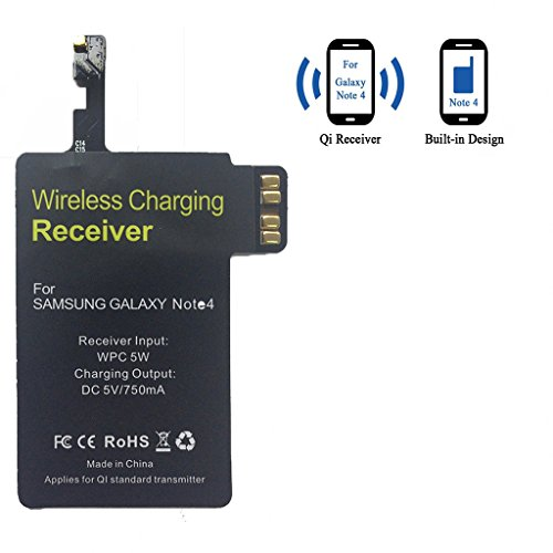 on sale 48faf 96c80 Galaxy Note 4 Wireless Charging Receiver, TOPINNO Ultra Thin Qi Standard  Wireless Charging Receiver Module for Samsung Galaxy N910 - Black  (Compatible ...