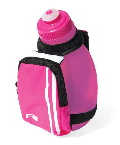 FuelBelt Sprint 10-Ounce Palm Water Holder with Pocket (White/Pink)