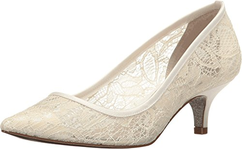 Adrianna Papell Women's Lois Lace Ivory 1890 Lace Pump