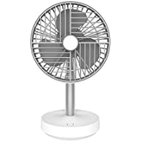 SMARTDEVIL Portable Desk Fan, Lower Noise, USB Rechargeable Battery Operated Fan with Four Speeds, 4000Mah Battery for Home, Offical, Dormitory,Desktop,Table Fans (White)