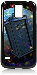 Dr. Who-Tardis in a Globe - Samsung Galaxy S5 I9600 - Hard black plastic snap on case.