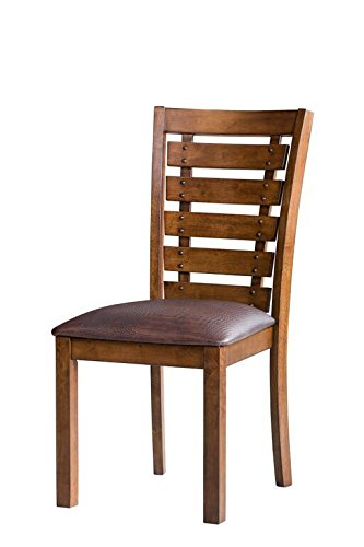 Pearington Kingston Kitchen Dining 2 Pack Chair Set Pecan Oak Finish