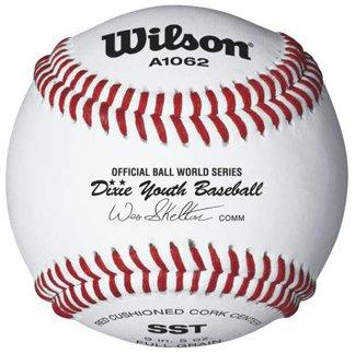 Wilson A1062 Dixie Youth Tournament Series Baseball (12-Pack), White
