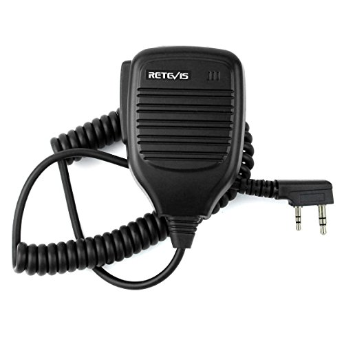 Retevis 2 Pin Speaker Mic for Baofeng UV-5R Retevis H-777 RT21 RT22 RT27 Kenwood TYT HYT 2 Way Radio (1 Pack) by Retevis