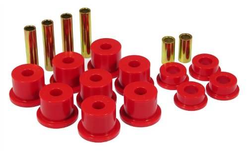Prothane 6-1012 Red Front Spring Eye and Shackle Bushing Kit ()