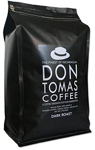 2 LB Dark Don Tomas Nicaraguan Coffee - Whole Coffee Beans - Rainforest Alliance Certified Farm (New 2017 Harvest)