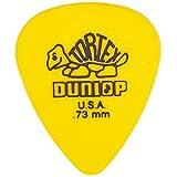 Dunlop 418P.73 Standard Tortex Picks, 12 Pack, Yellow, 0.73mm
