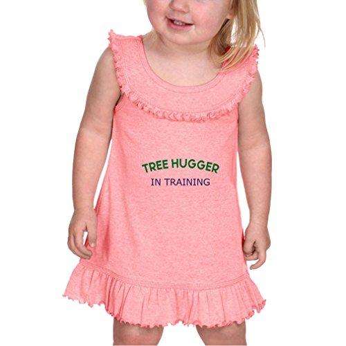 Cute Rascals Tree Hugger In Training Infants Girls Ruffle Collar Tank Dress Flamingo 6 (Tree Hugger Tank)