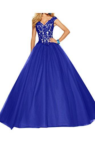 Toskana novia Vestidos de noche de mujer Mode con Bolero Corto Gasa Con Punta Cocktail Abi Ball novia Vestidos azul real