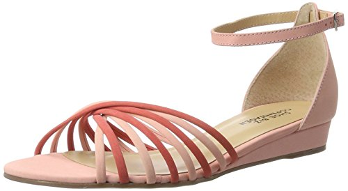 Shoe Biz Sandal Wedge, Sandalias con Cuña Para Mujer Rosa (Nubuk Fuchsia Comb)