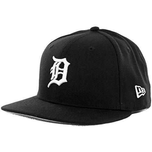 New Era 59Fifty Hat MLB Basic Detroit Tigers Black/White Fitted Baseball Cap (7 3/4)
