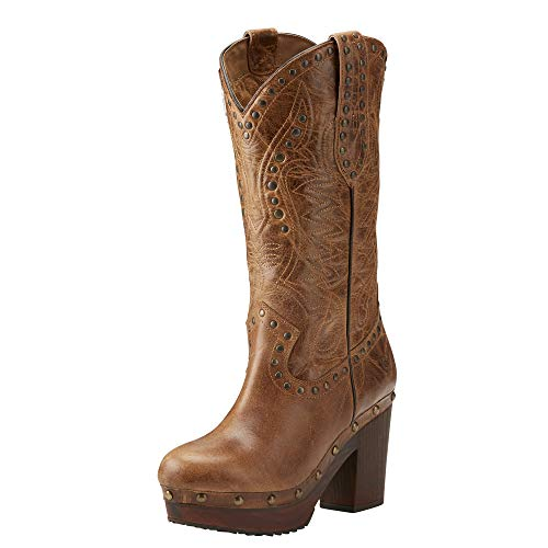 ARIAT Women's Chattanooga Western Boot Bite The Dust Brown Size 8.5 B/Medium Us (Clogs Leather Ariat)