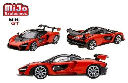 MIJO Mini Gt Mclaren Senna Orange Hobby Exclusive 1/64 Scale by TSM MGT00018