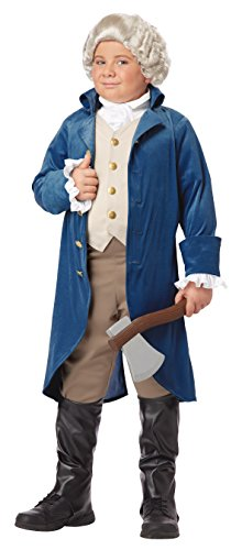 California Costumes George Washington/Thomas Jefferson/Alexander Hamilton and Colonial Child Costume, (Colonial Day Costumes)