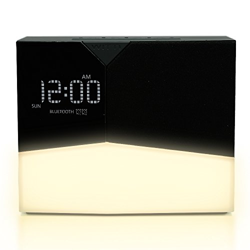 WITTI - BEDDI Glow | App Enabled Intelligent Alarm Clock with Wake-up Light, Bluetooth Speaker and USB Charger