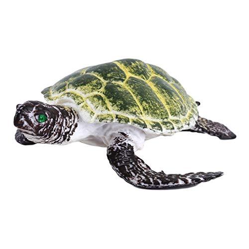Iumer Sea Turtle Plastic Model Hand Painted Lifelike Imitation Sea Animal Toy,Green (Seller Name 766)