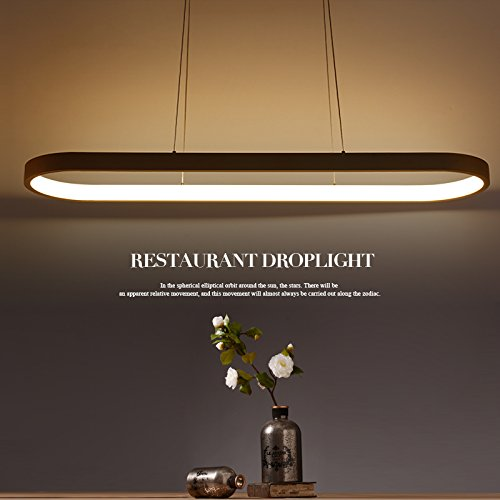 EM Modern Square Led Chandelier Adjustable Hanging Light With 1 Rings Contemporary Ceiling Pendant Lighting L23