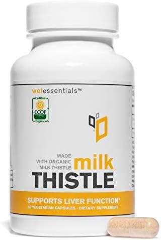 WelEssentials Organic Silymarin Milk Thistle Capsule