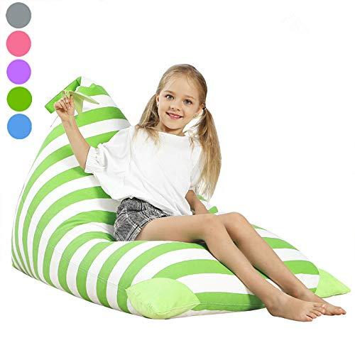 - Aubliss Stuffed Animal Storage Bean Bag Chair - Plush Animal Toy Organizer for Kids, Girls and Children | Extra Large | 23 Inch Long YKK Zipper | Premium Cotton Canvas (Green)