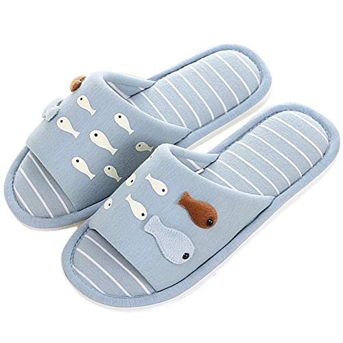 Fish for Slippers Home Open Toe Memory Grey 1 Kids Women's Blue Foam Indoor Slip Slippers Shoes ML Cute Outdoor Soft On House Slippers xwqUcpWan
