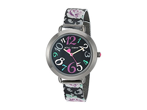 Betsey Johnson Women's BJ00688-04 Black/Pink Floral One Size (Betsey Johnson Watch Bracelet)