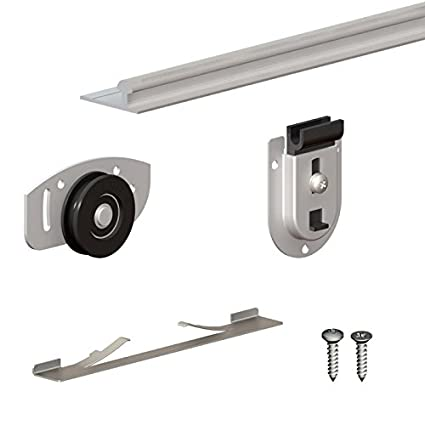 SLIDu0027UP 130   Sliding Closet Door Hardware Kit   78 Inch Tracks For 2 Or 3  Bypass Doors Up To 154lbs Each     Amazon.com