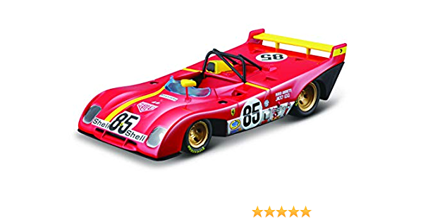 BBURAGO 18-36302 FERRARI RACING 312 P 1972 #85 1//43 DIECAST MODEL CAR RED