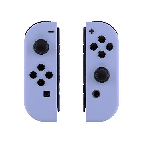 - eXtremeRate Soft Touch Grip Light Violet Joycon Handheld Controller Housing with Full Set Buttons, DIY Replacement Shell Case for Nintendo Switch Joy-Con - Console Shell NOT Included