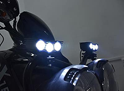 2pcs Super Bright Motorcycle Fog Light Bar Spotlight Waterproof 20W CREE X2 LED Universal Motorcycle Headlight Work Light Driving Spot Lamp Night Riding Safety Headlamp + 1pcs Switch